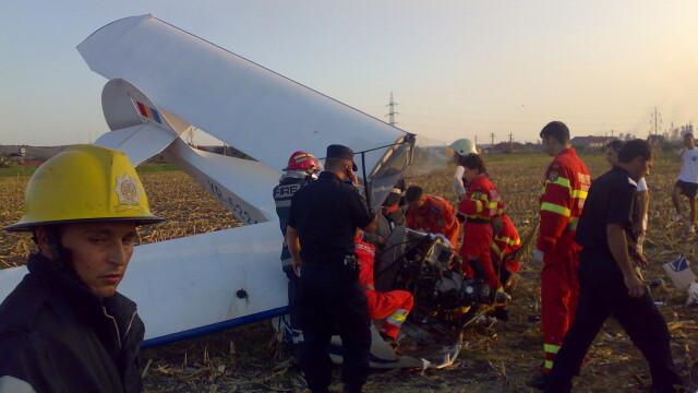 Avion prabusit langa Targu Mures! Pilotul, in stare grava la spital - Imaginea 1