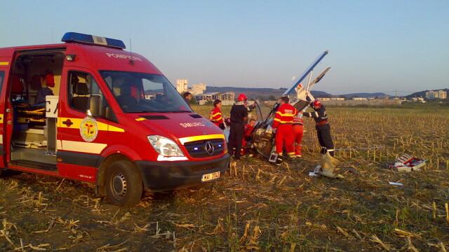 Avion prabusit langa Targu Mures! Pilotul, in stare grava la spital - Imaginea 2