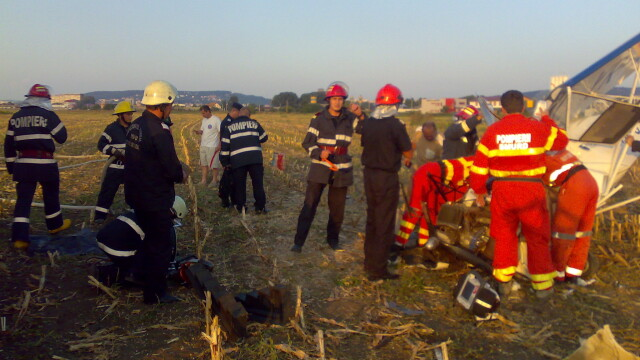 Avion prabusit langa Targu Mures! Pilotul, in stare grava la spital - Imaginea 3