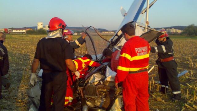 Avion prabusit langa Targu Mures! Pilotul, in stare grava la spital - Imaginea 4