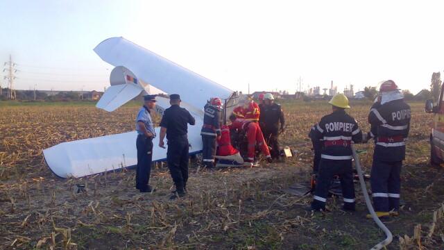 Avion prabusit langa Targu Mures! Pilotul, in stare grava la spital - Imaginea 5