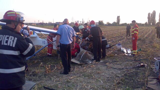 Avion prabusit langa Targu Mures! Pilotul, in stare grava la spital - Imaginea 6