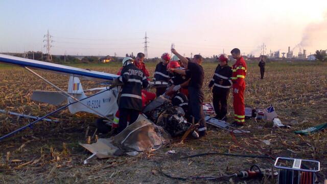 Avion prabusit langa Targu Mures! Pilotul, in stare grava la spital - Imaginea 7