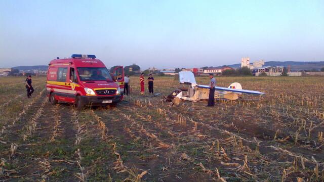 Avion prabusit langa Targu Mures! Pilotul, in stare grava la spital - Imaginea 9