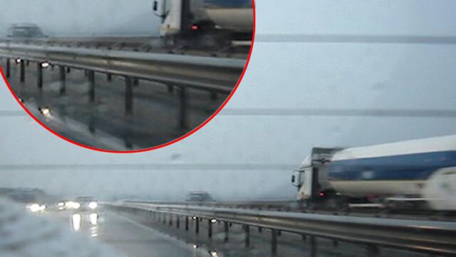 Singur impotriva tuturor! Pe contrasens, pe Autostrada Bucuresti-Pitesti! - Imaginea 6