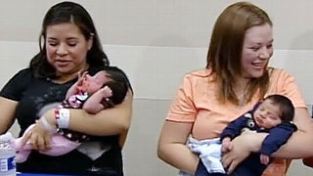 Ce potrivire! 4 surori au nascut 4 bebelusi in 4 zile succesive
