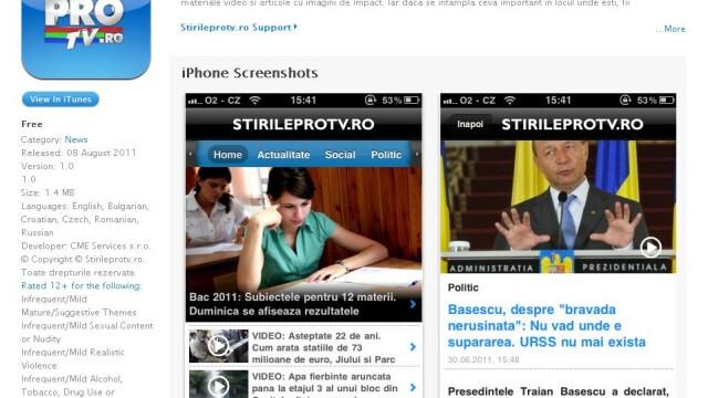 Aplicatie iPhone