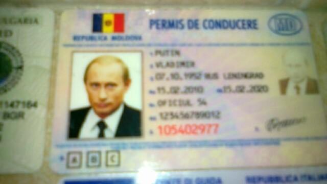 Permis de conducere Vladimir Putin