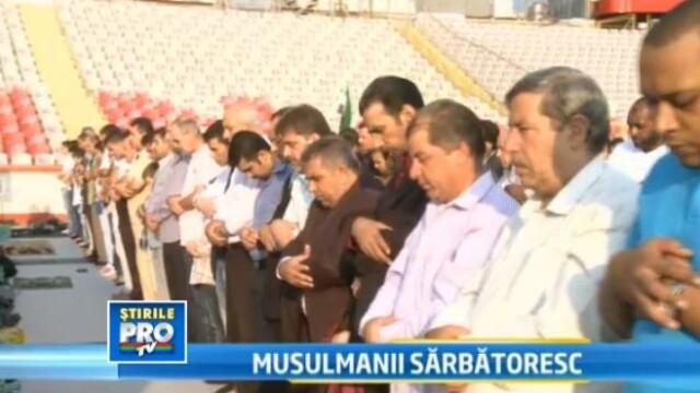 Ramadanul s-a mutat pe stadionul Dinamo. Mii de musulmani s-au rugat la Allah in centrul Capitalei