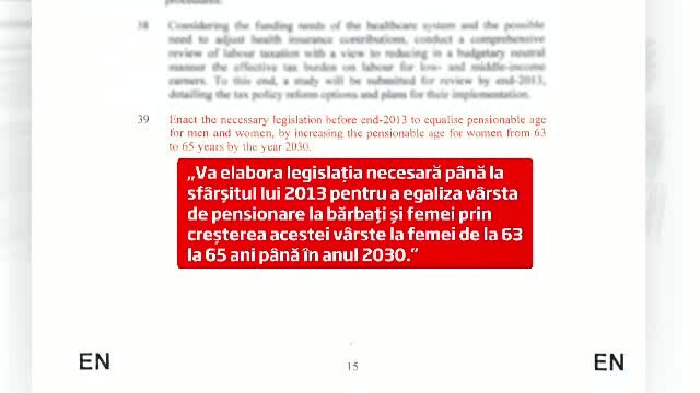 Acordul cu FMI: Femeile se vor pensiona in Romania la aceeasi varsta cu barbatii pana in 2030