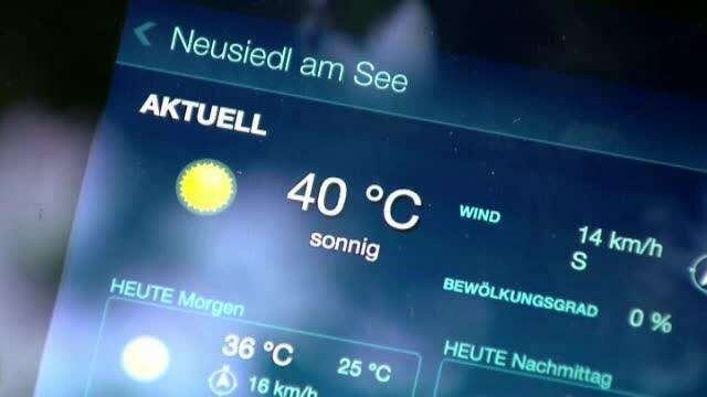 canicula, 40 de grade, Austria