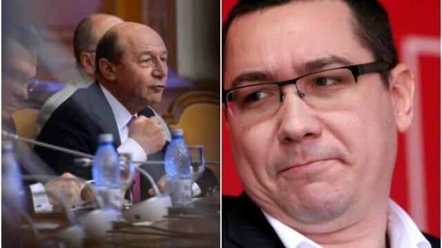 Traian Basescu si Victor Ponta