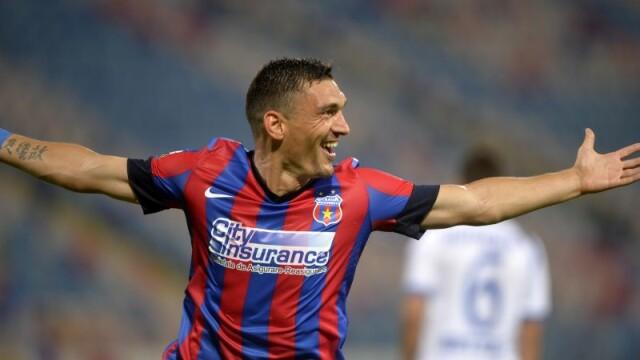 Steaua a invins Pandurii cu scorul de 6-0. Toate golurile echipei lui Galca au fost marcate de Claudiu Keseru