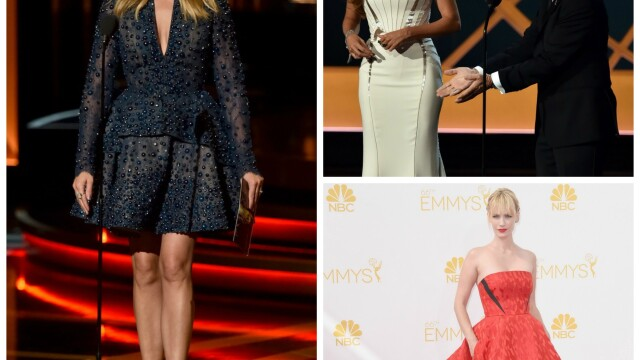 Moda la gala Emmy 2014: Vedetele au ales rosu si alb pentru defilarea pe covorul rosu - Imaginea 1