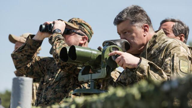 presedintele Ucrainei Petro Porosenko in uniforma