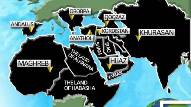 Harta planului de cuceriri a Statului Islamic - Andrew Hosken