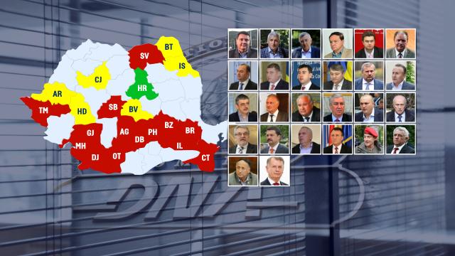 Consiliile PENALE ale Romaniei. HARTA completa a liderilor locali condamnati sau anchetati de DNA