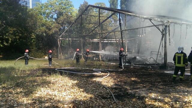 Incendiu la clubul Chaboo din Capitala. Flacari uriase au pornit langa piscina si au distrus un cort. VIDEO - Imaginea 13