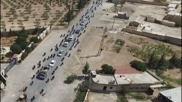 Imagini cu scuturile umane folosite de jihadistii ISIS pentru a scapa dintr-un oras asediat. \