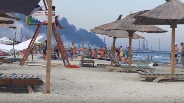 Explozie cu sase raniti la Rafinaria Petromidia din Navodari. In ce directie se va deplasa aerul poluat in urma accidentului - Imaginea 1