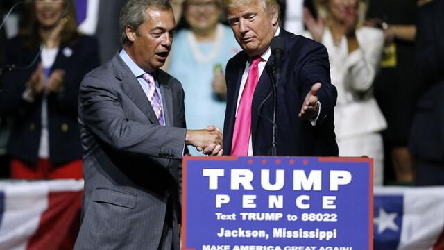 Dupa Brexit, Nigel Farage il sustine pe Donald Trump:\