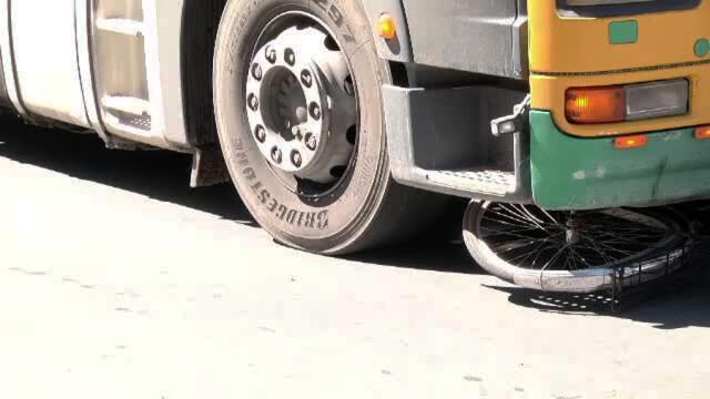 accident tir bicicleta