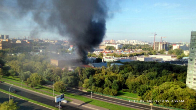 Incendiu devastator in Moscova. Pompierii au descoperit 16 cadavre