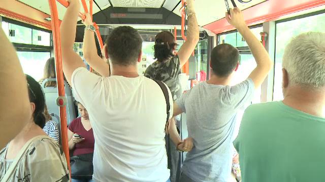 Mijloacele de transport în comun din Capitală, adevărate cuptoare