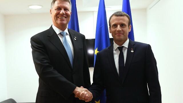 Klaus Iohannis, vizită oficială de două zile în Franţa. Întâlnire cu Emmanuel Macron