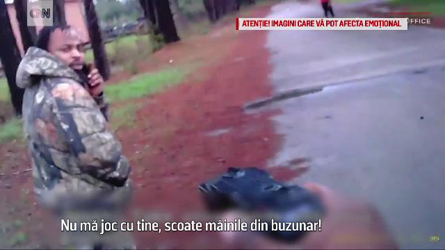 Poliștist american, împușcat la mică distanță de un suspect de jaf. Întreaga scenă, filmată