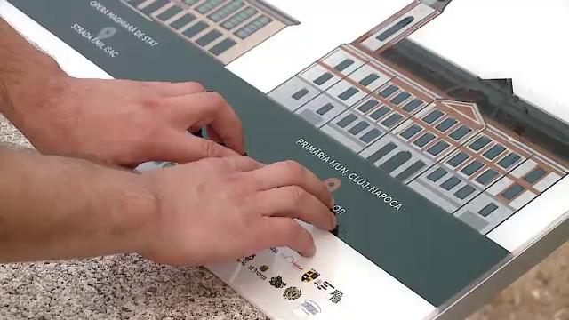 Prima placă în limbaj Braille, inaugurată în Cluj