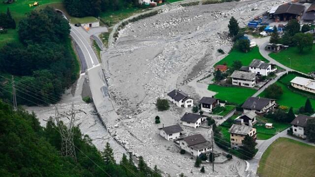 14 persoane dispărute în Alpii Elvețieni, în urma unei alunecări de teren
