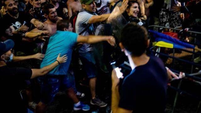 Femeia jandarm rănită în timpul protestului de vineri seară a fost externată