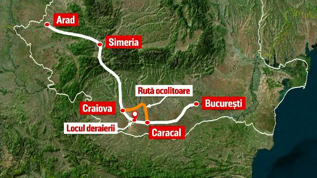 Consecinţele grave cauzate de trenul deraiat între Caracal şi Craiova. Plângerile pasagerilor