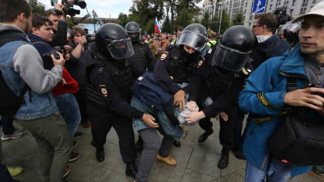 Protest al Opoziției în Rusia. Poliția a arestat aproape 700 de persoane. VIDEO