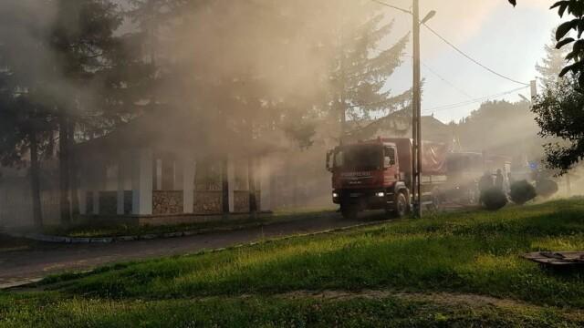 Incendiu puternic la mănăstirea Agafton din Botoșani - Imaginea 3