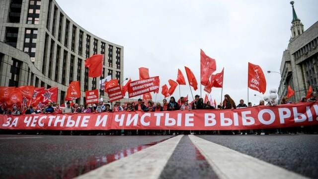 """Proteste la Moscova. Comuniștii și liberalii cer """"alegeri cinstite"""". FOTO - Imaginea 3"""