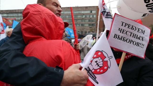 """Proteste la Moscova. Comuniștii și liberalii cer """"alegeri cinstite"""". FOTO - Imaginea 2"""