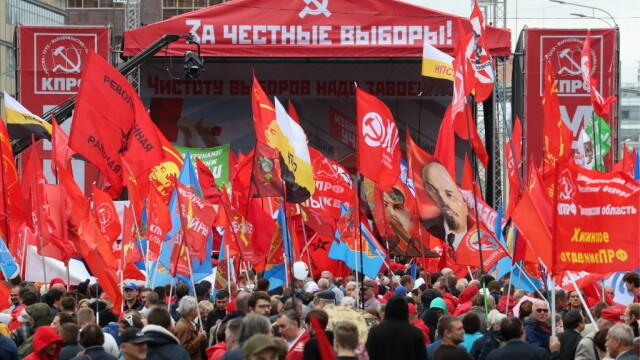 """Proteste la Moscova. Comuniștii și liberalii cer """"alegeri cinstite"""". FOTO - Imaginea 1"""