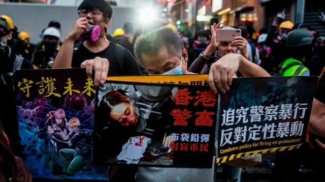 Mii de profesori, în stradă la Hong Kong. Armata chineză poate interveni oricând - Imaginea 9