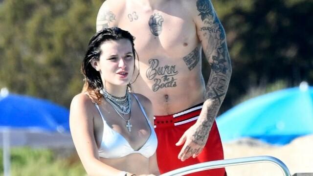 Bella Thorne, surprinsă purtând un bikini minuscul în vacanța în Italia. FOTO - Imaginea 6