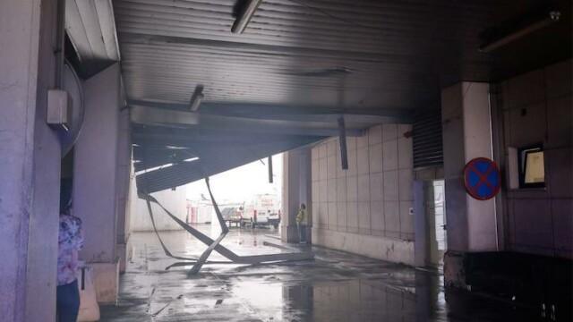 Stâlpi pentru ghidarea avioanelor, dărâmați de furtună, pe Aeroportul Otopeni - 3