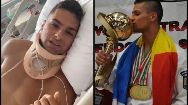 Apel pentru tânărul campion rămas paralizat după ce a sărit în piscină. Florin are nevoie de operație - Imaginea 1