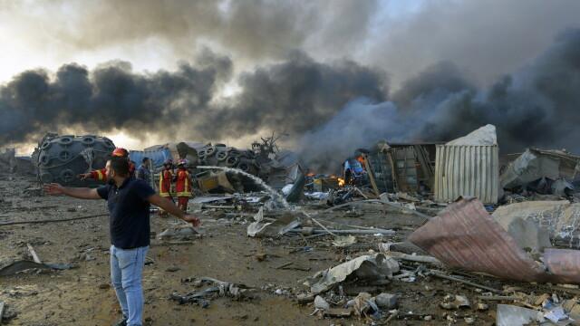 Imaginile dezastrului din Beirut. Stare de urgență în capitala Libanului după explozie. GALERIE FOTO - Imaginea 5