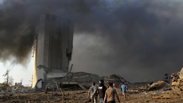 Imaginile dezastrului din Beirut. Stare de urgență în capitala Libanului după explozie. GALERIE FOTO - Imaginea 4