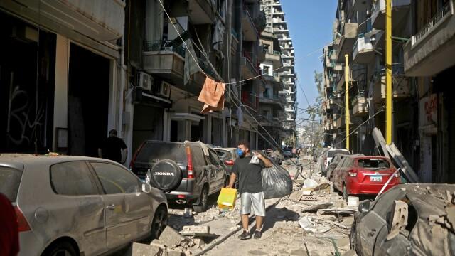 Imaginile dezastrului din Beirut. Stare de urgență în capitala Libanului după explozie. GALERIE FOTO - Imaginea 3