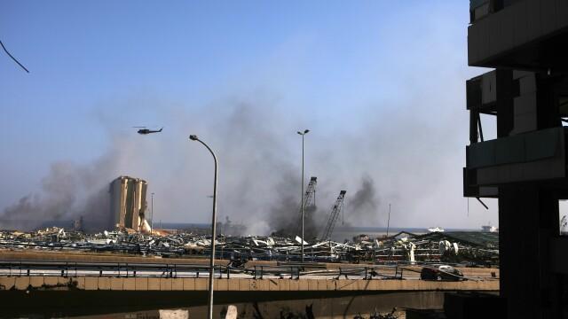 Imaginile dezastrului din Beirut. Stare de urgență în capitala Libanului după explozie. GALERIE FOTO - Imaginea 14
