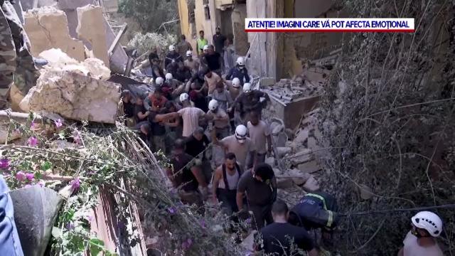 """Sarcină titanică pentru salvatorii care caută supraviețuitori în Beirut. Rănit: """"Nu pot uita ce am văzut"""" - Imaginea 4"""