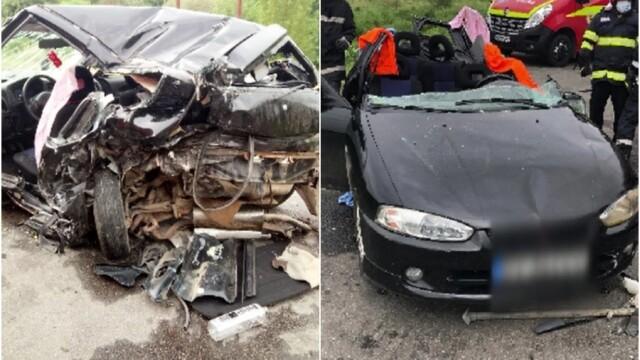 Accident cu 3 mașini provocat de un șofer băut. Patru oameni au ajuns la spital - Imaginea 1