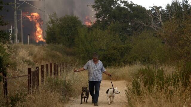 Teroare în Atena. Mai multe case au ars, două suburbii au fost evacuate. Valul de căldură a atins cote maxime - Imaginea 5